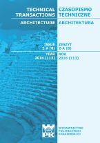 Technical Transactions iss. 8. Architecture iss. 2-A
