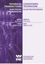 Technical Transactions iss. 12. Electrical Engineering iss. 2-E