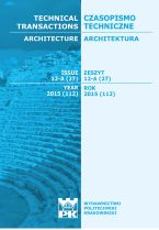 Technical Transactions iss. 27. Architecture iss. 12-A