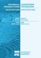 Technical Transactions iss. 22. Architecture iss. 11-A