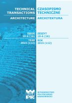 Technical Transactions iss. 16. Architecture iss. 10-A