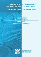Technical Transactions iss. 15. Architecture iss. 9-A