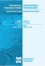 Technical Transactions iss. 10. Architecture iss. 7-A