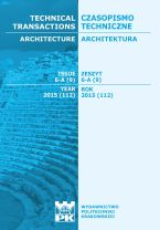 Technical Transactions iss. 9. Architecture iss. 6-A