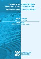 Technical Transactions iss. 4. Architecture iss. 4-A
