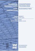 Technical Transactions iss. 23. Civil Engineering iss. 3-B