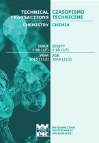 Technical Transactions iss. 17. Chemistry iss. 1-Ch