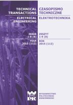 Technical Transactions iss. 8. Electrical Engineering iss. 1-E