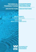 Technical Transactions iss. 14. Architecture iss. 7-A