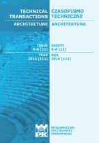 Technical Transactions iss. 11. Architecture iss. 6-A