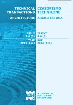 Technical Transactions iss. 9. Architecture iss. 4-A
