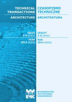 Technical Transactions iss. 2. Architecture iss. 2-A