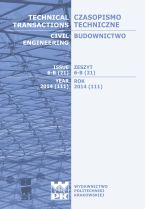 Technical Transactions iss. 21. Civil Engineering iss. 6-B