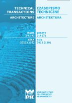 Technical Transactions iss. 7. Architecture iss. 2-A