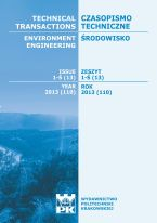Technical Transactions iss. 13. Environment Engineering iss. 1-Ś