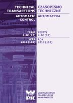 Technical Transactions iss. 12. Automatic Control iss. 4-AC