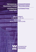 Technical Transactions iss. 2. Automatic Control iss. 1-AC